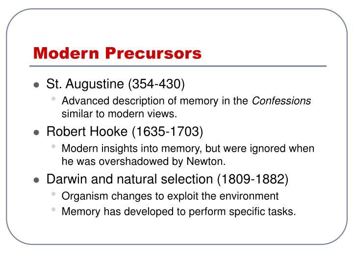 Modern Precursors