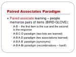 paired associates paradigm
