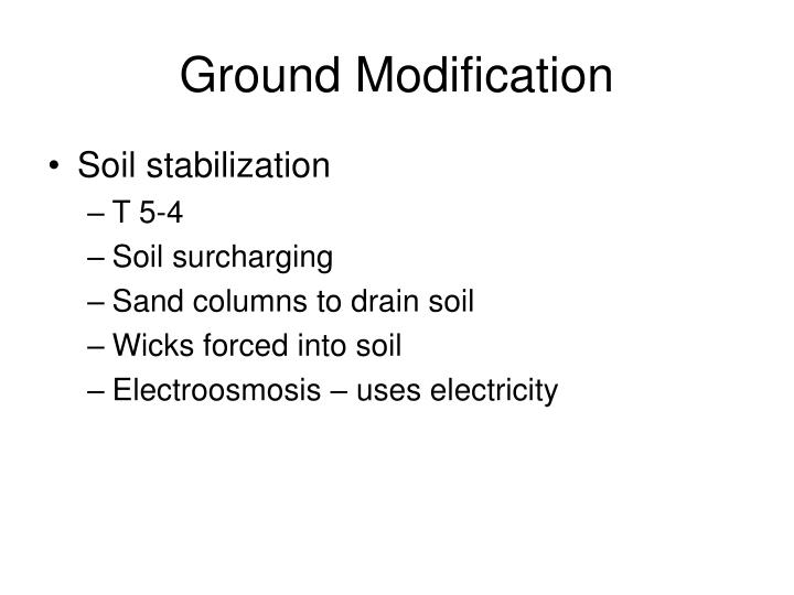 Ground Modification
