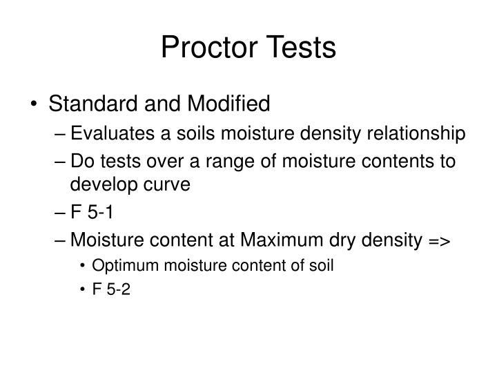 Proctor Tests