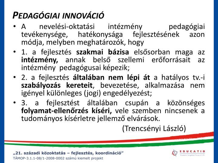 Pedagógiai innováció