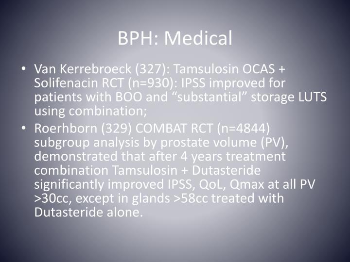 BPH: Medical