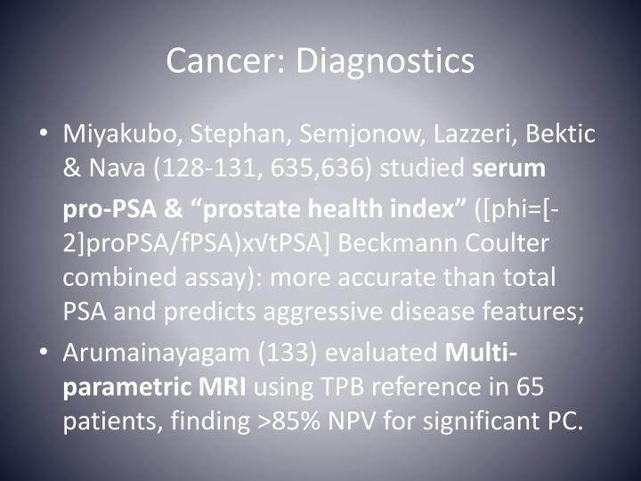 Cancer: Diagnostics