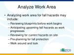 analyze work area