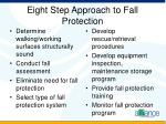 eight step approach to fall protection