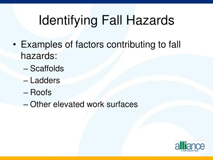 Identifying Fall Hazards