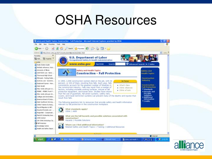 OSHA Resources
