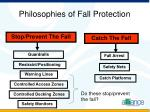 philosophies of fall protection