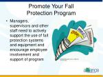 promote your fall protection program