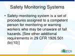 safety monitoring systems