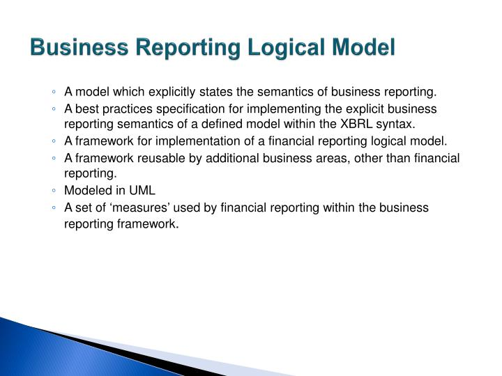 Business Reporting Logical Model