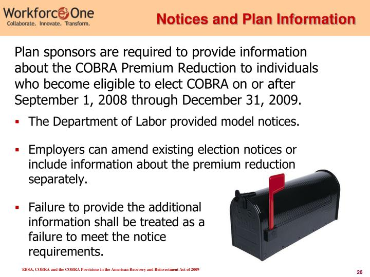 Notices and Plan Information