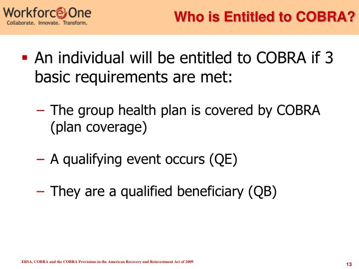 Who is Entitled to COBRA?