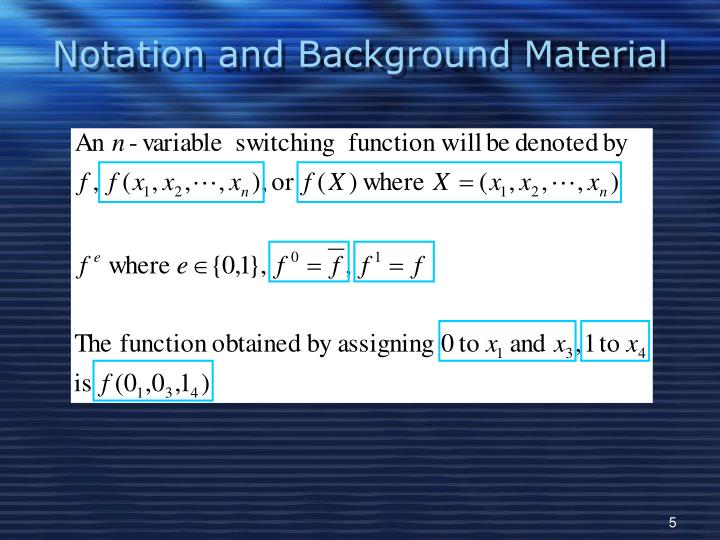 Notation and Background Material