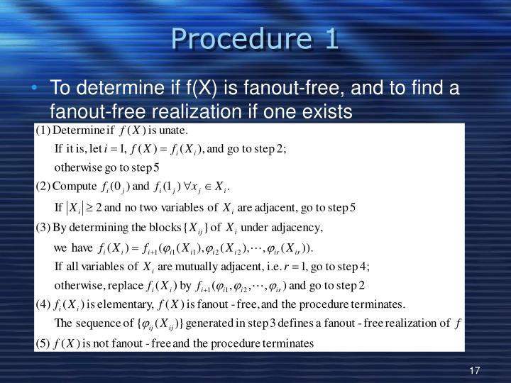 Procedure 1