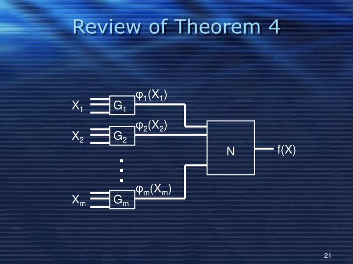 Review of Theorem 4