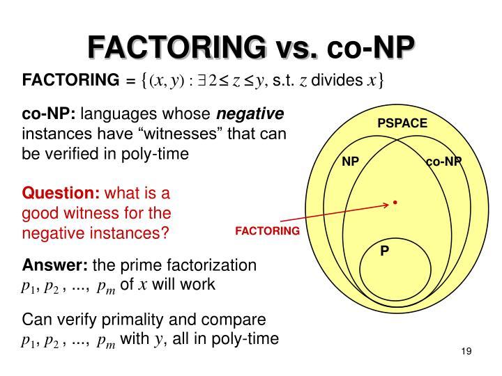 FACTORING vs.
