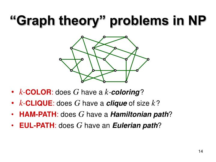 """Graph theory"" problems in NP"