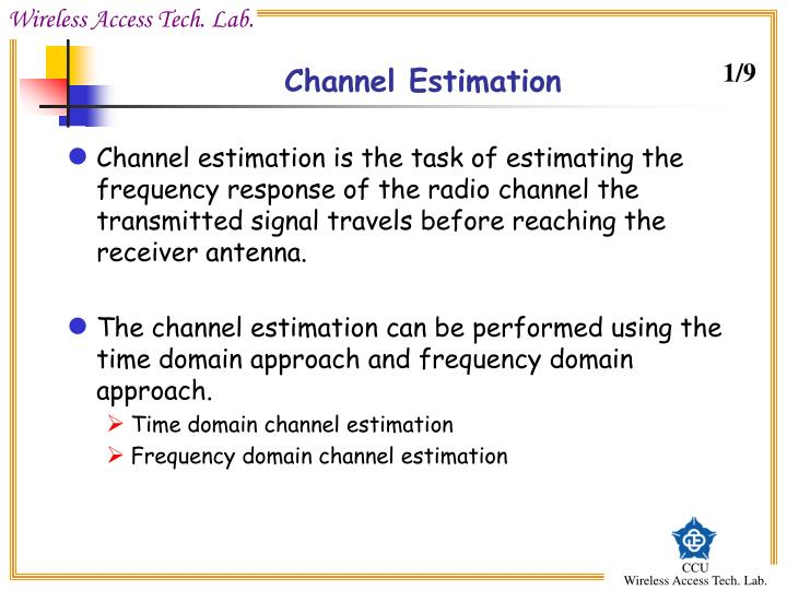 Channel Estimation