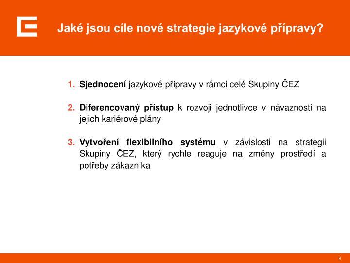Jaké jsou cíle nové strategie jazykové přípravy?