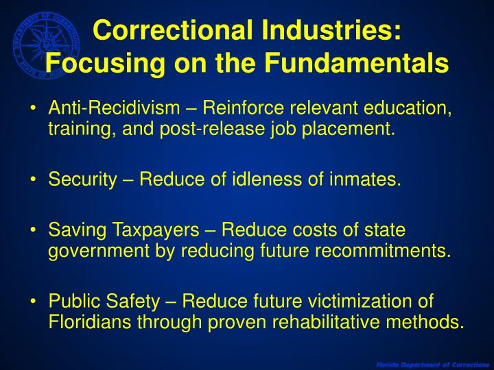 Correctional Industries: