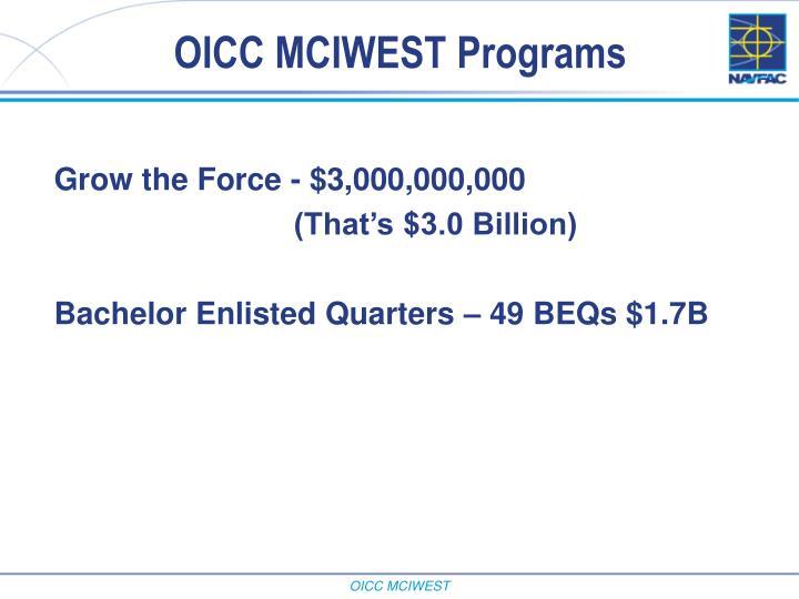 OICC MCIWEST Programs