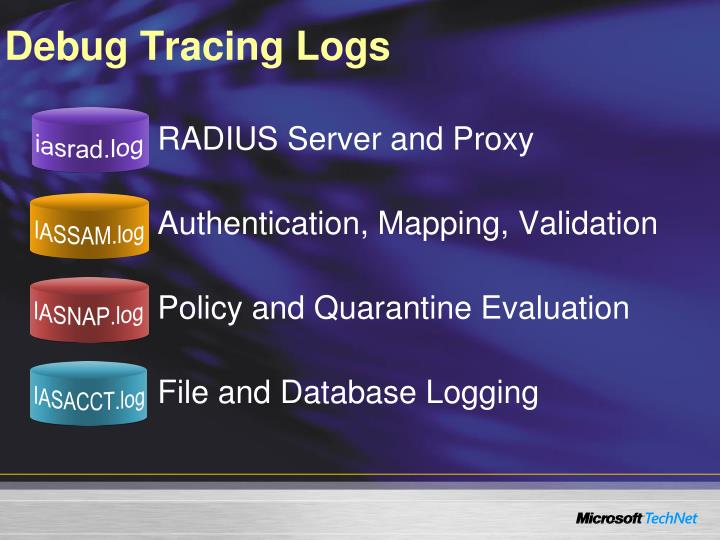Debug Tracing Logs