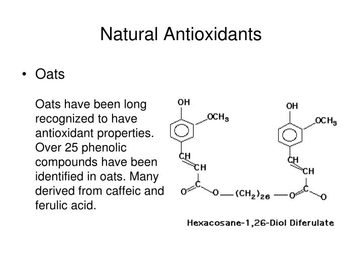 Natural Antioxidants