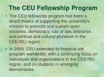 the ceu fellowship program