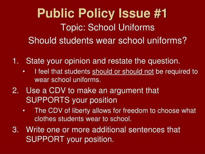 Public Policy Issue #1