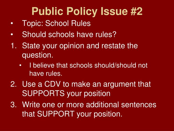 Public Policy Issue #2