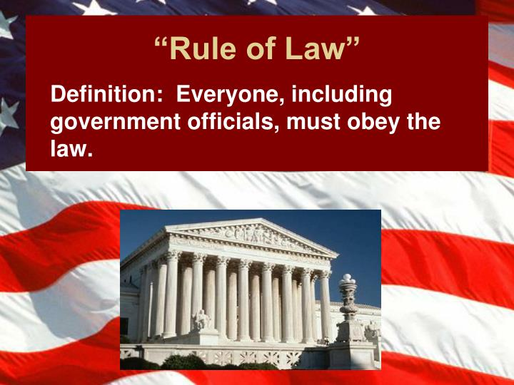 """Rule of Law"""