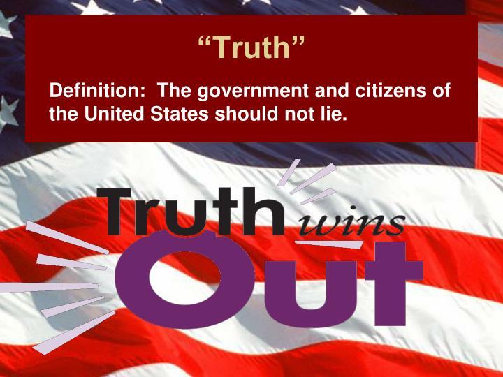 """Truth"""