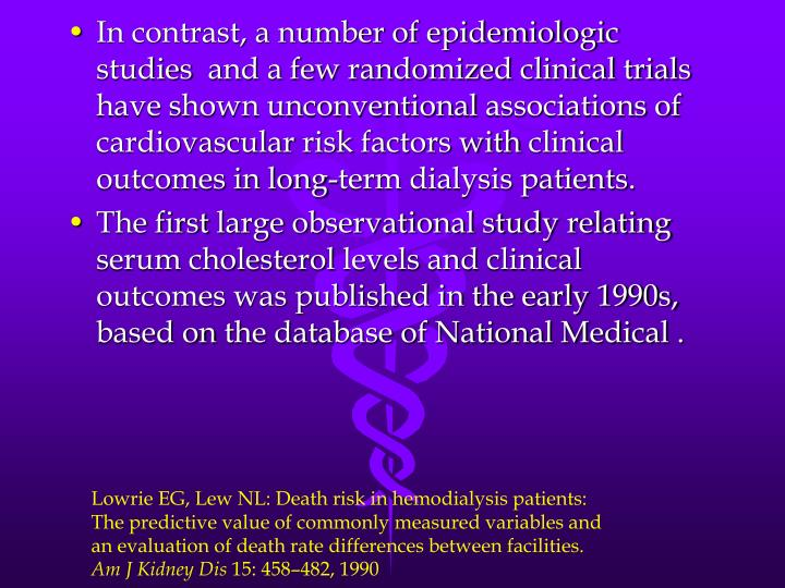 In contrast, a number of epidemiologic