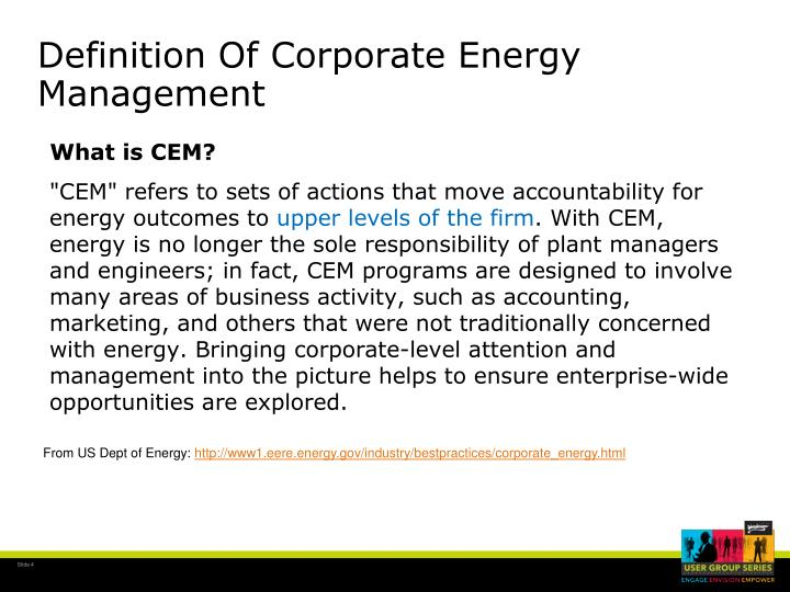 Definition Of Corporate Energy Management