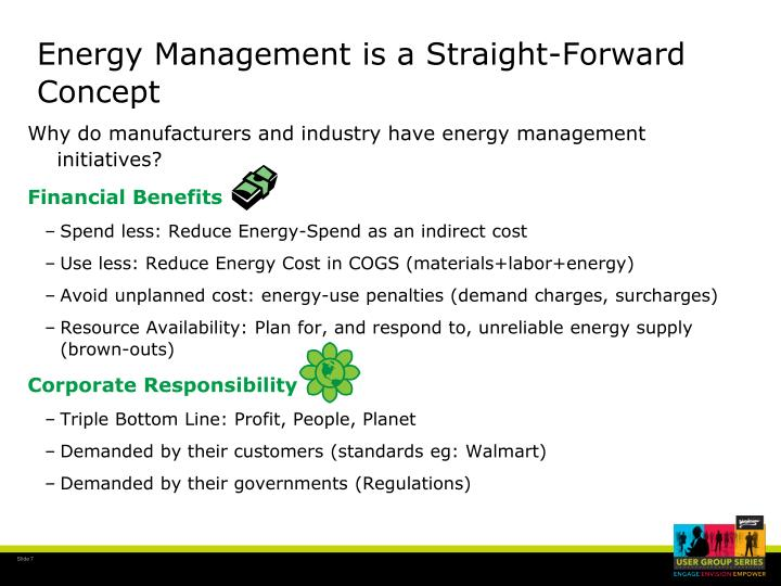 Energy Management is a Straight-Forward Concept