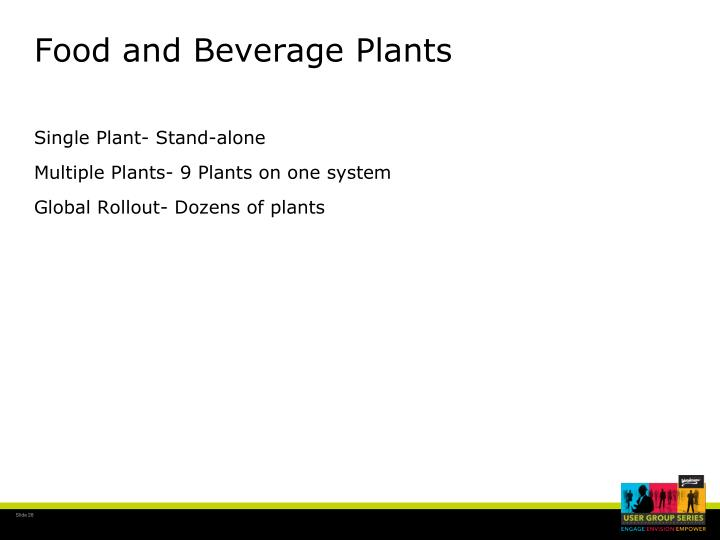 Food and Beverage Plants