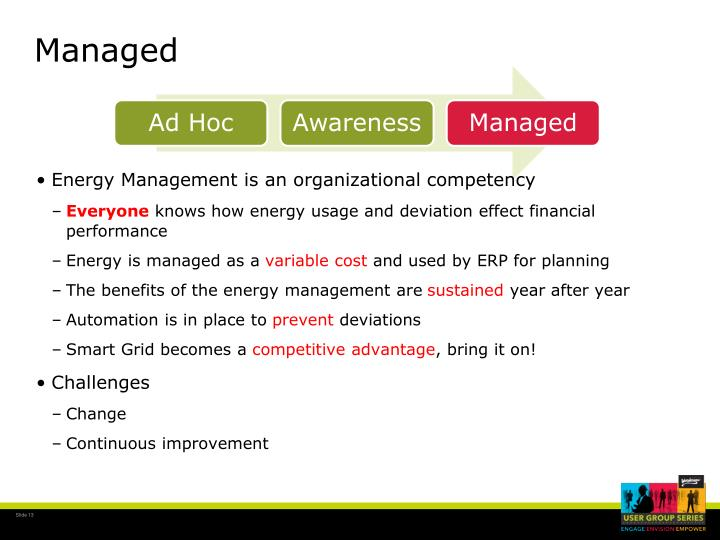 Energy Management is an organizational competency
