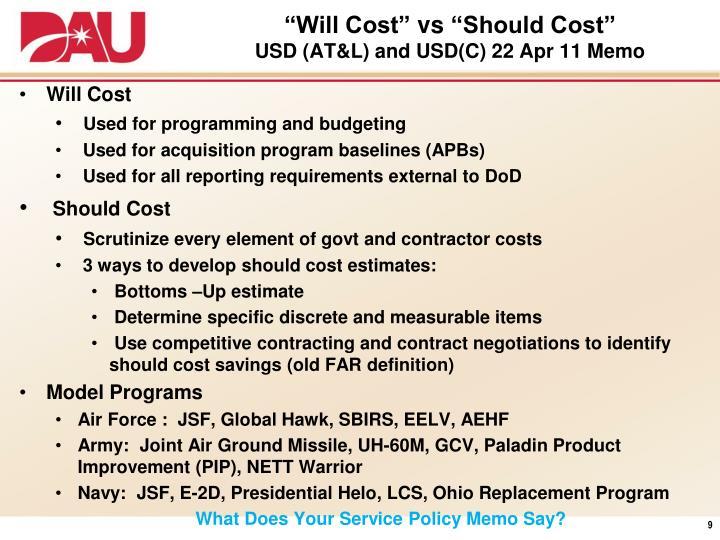 """""""Will Cost"""""""