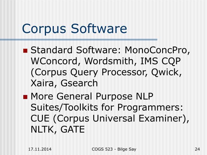 Corpus Software