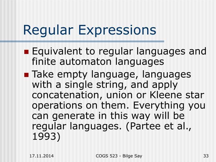 Regular Expressions