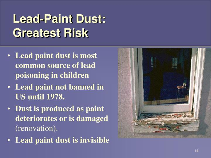 Lead-Paint Dust: