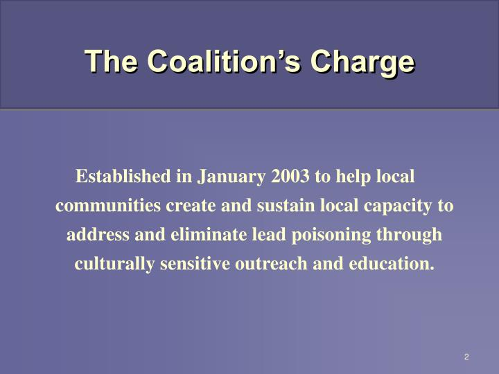 The Coalition's Charge