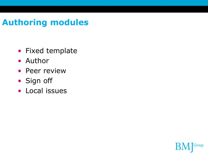 Authoring modules