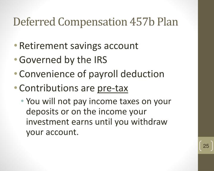 Deferred Compensation 457b Plan