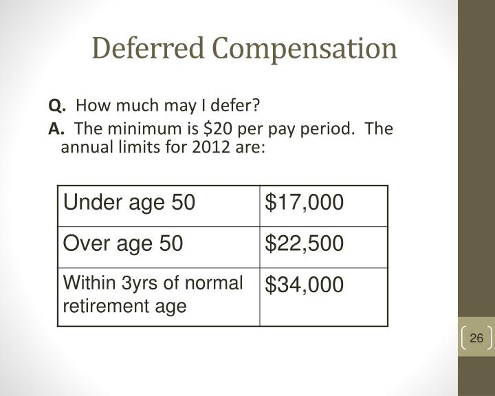 Deferred Compensation
