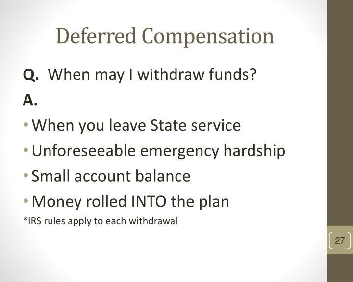 Deferred Compensation