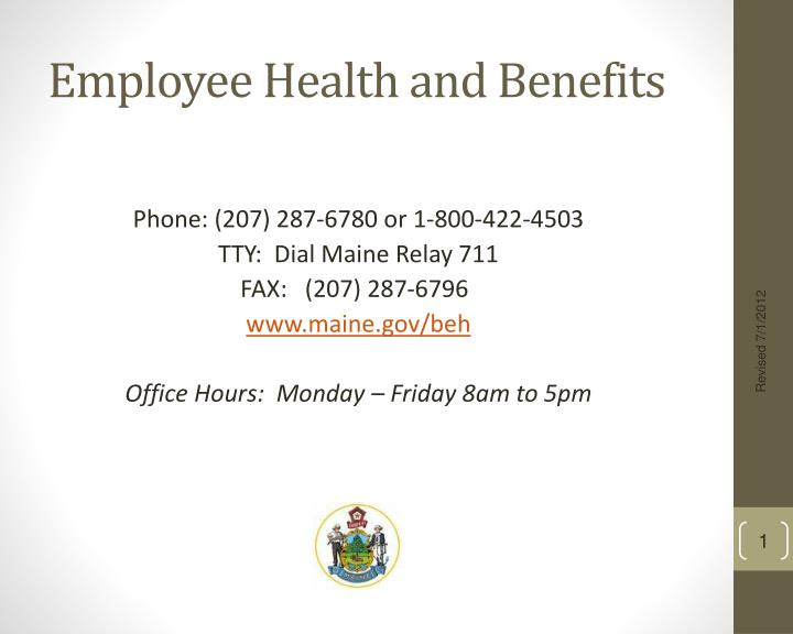 Employee Health and Benefits