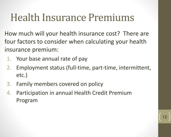 Health Insurance Premiums