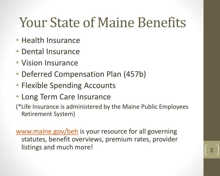 Your State of Maine Benefits